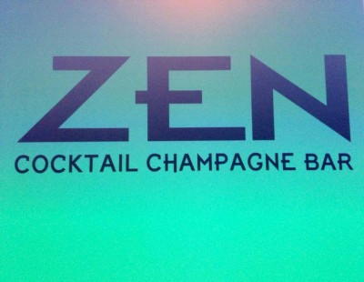 Zen cocktail champagne bar