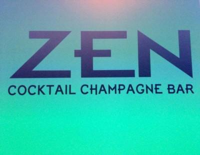 Zen cocktail champagne bar